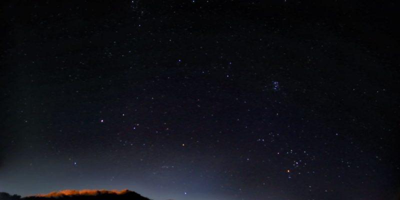 東北東の空の星当て写真2020/11/22 21:00